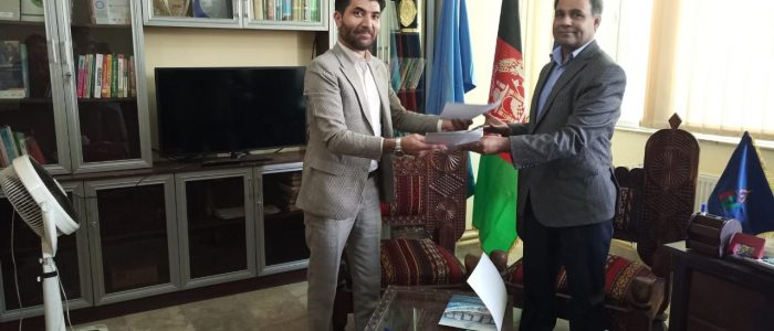Dr. Atiq-ur-Rehman in Kabul Signed an MoU with Mashal University Kabul Afghanistan